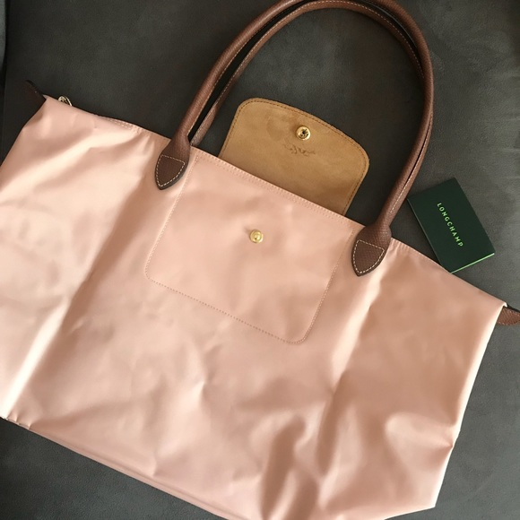 Longchamp Large Le Pliage' Tote in Pinky, NWT